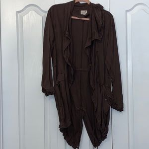 Brown coverup with zipper